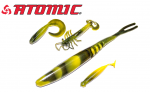 Atomic Plazos Camo Tiger soft plastics new products get fishing