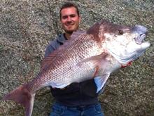 monster snapper caught rock fishing western australia albany