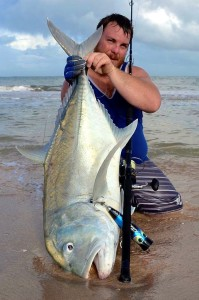 giant trevally gt exmouth wa land based fishing