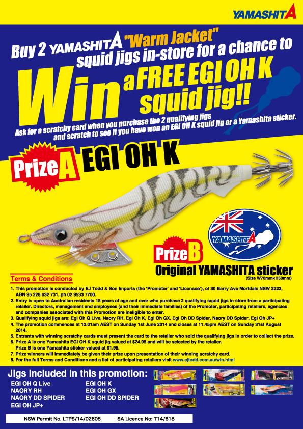 Yamashita Win an Egi Oh K squid jig