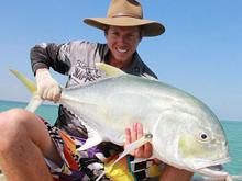 barefoot fishing safaris trevally caught in darwin