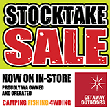 getaway outdoors end of financial year sale fishing and camping