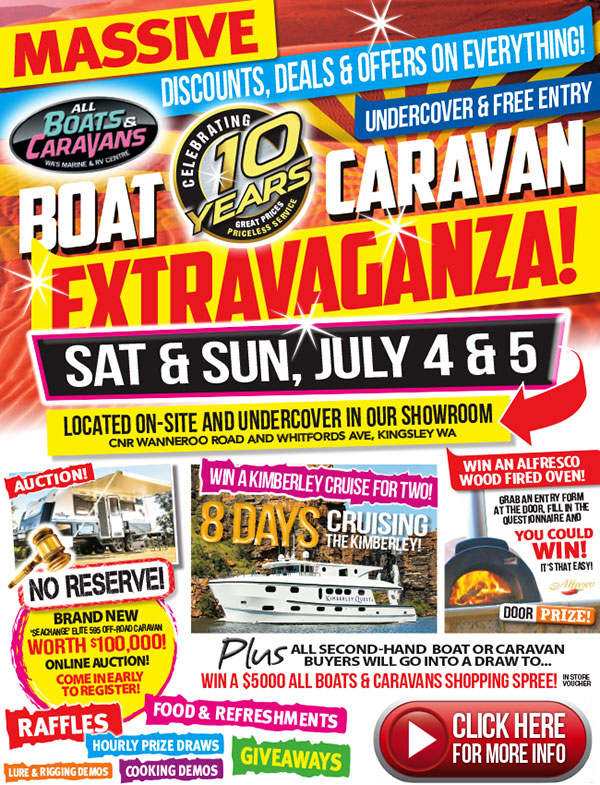 all boats and caravans extravaganza 2015 july perth tackle hq