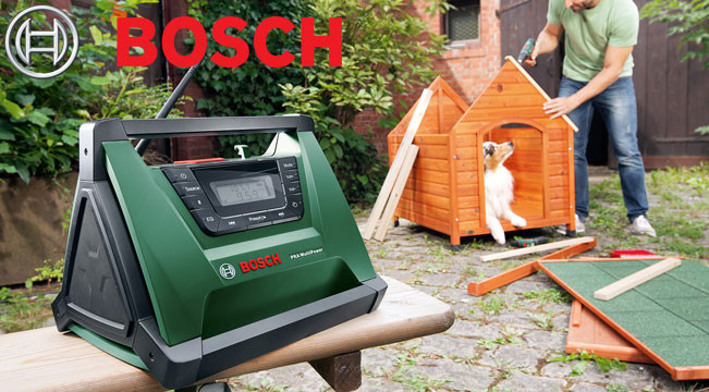 The compact PRA MultiPower Radio from Bosch