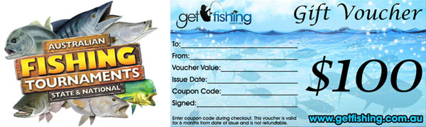 fishing tournament gift voucher prize