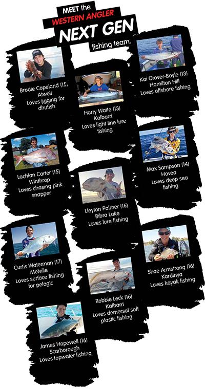 Western Angler Next Gen Fishing Team Members