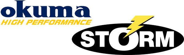 okuma logo. okuma and storm logo
