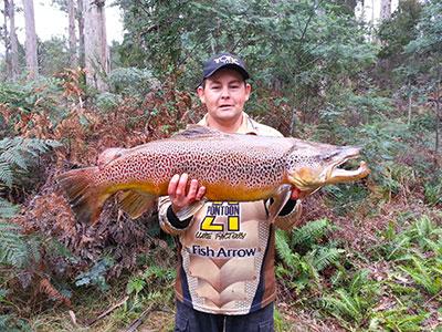 monster brown trought tasmania
