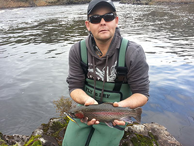 rainbow trout tasmania tony robertson