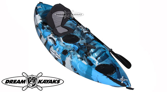 Dream Kayaks Dream Catcher 3 ocean camo Fishing Kayak