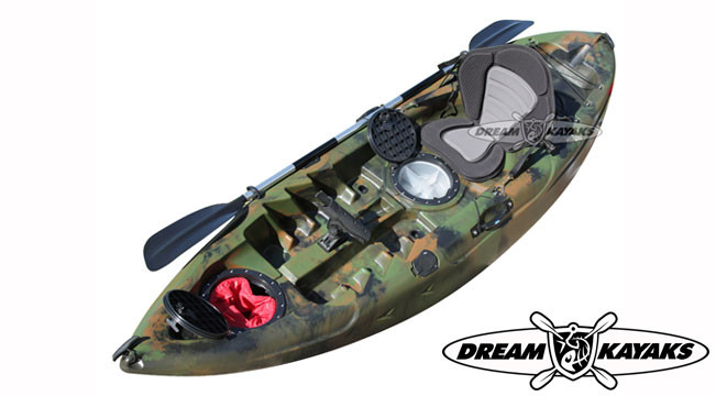 Dream Kayaks Dream Catcher 3 US jungle camo Fishing Kayak