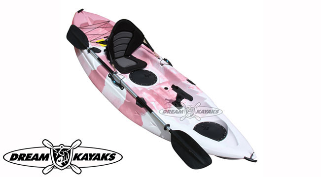 Dream Kayaks Dream Catcher 3 pink camo Fishing Kayak