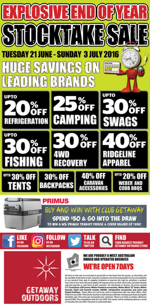 fishing sale end of financial year 2016