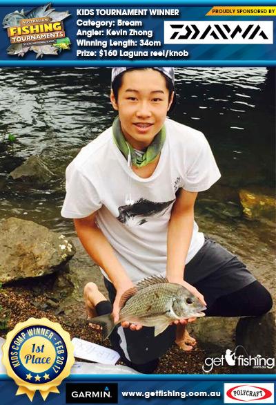 Bream 34cm Kevin Zhong Daiwa $160 Laguna reel/knob
