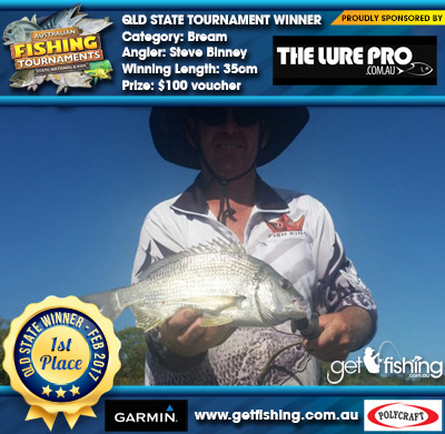 Bream 35cm Steve Binney The Lure Pro $100 voucher