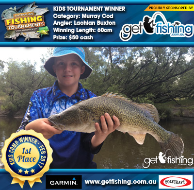 Murray Cod 60cm Lachlan Buxton Get Fishing $50 cash