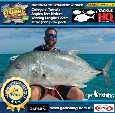Trevally 129cm Troy Nielsen Tackle HQ $300 prize pack
