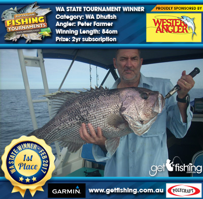 WA Dhufish 84cm Peter Farmer Western Angler 2yr subscription