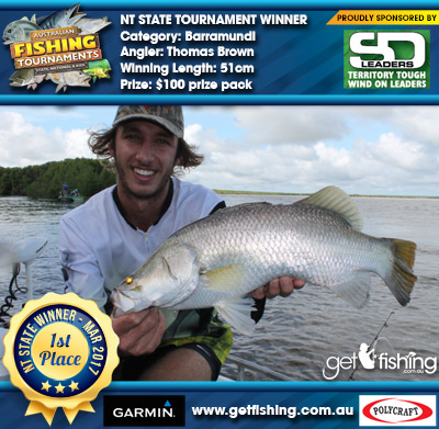 Barramundi 51cm Thomas Brown Shane Doevy Wind Ons $100 prize pack