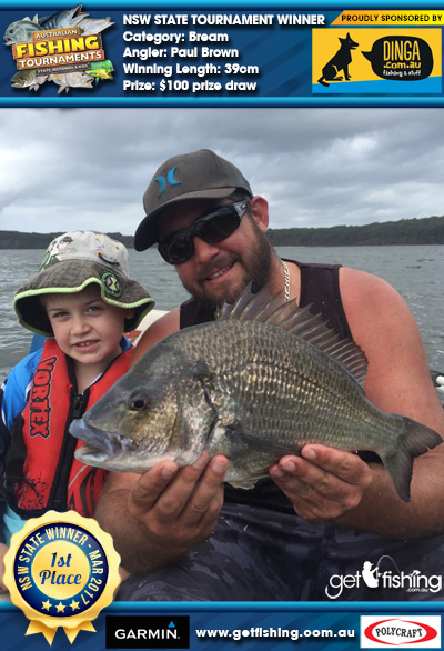 Bream 39cm Paul Brown Dinga Fishing $100 prize draw
