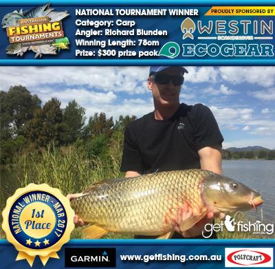 Carp 78cm Richard Blunden Ecogear/Westin $300 prize pack