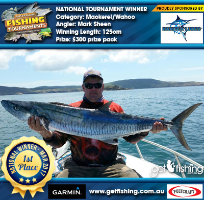 Mackerel/Wahoo 125cm Mark Sheen Richter Lures $300 prize pack
