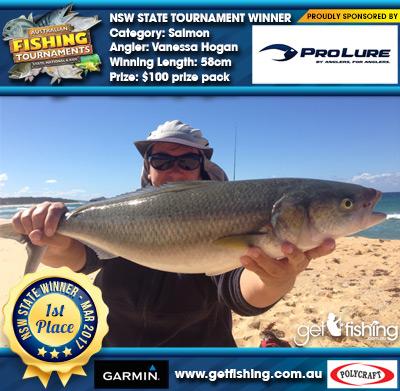 Salmon 58cm Vanessa Hogan Pro Lure Australia $100 prize pack