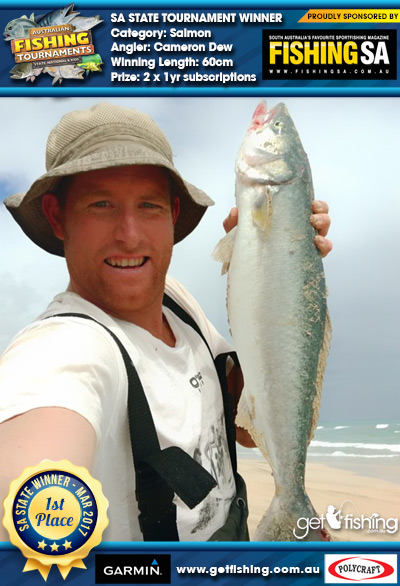 Salmon 60cm Cameron Dew Fishing SA 2 x 1yr subscriptions