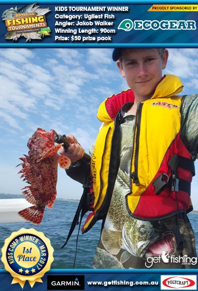 Ugliest Fish 90cm Jakob Walker Ecogear $50 prize pack