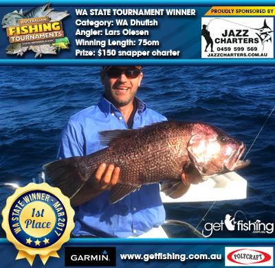WA Dhufish 75cm Lars Olesen Jazz Charters $150 snapper charter