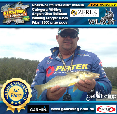 Whiting 40cm Glen Rollason Wilson/Zerek $300 prize pack