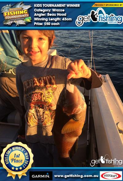 Wrasse 43cm Beau Hood Get Fishing $50 cash