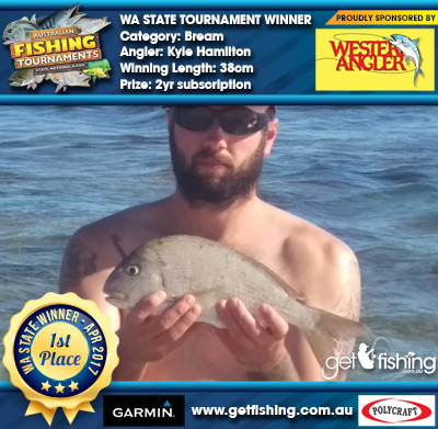 Bream 38cm Kyle Hamilton Western Angler 2yr subscription