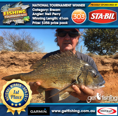 Bream 41cm Neil Perry STA-BIL Marine and 303 Protectants and Cleaners $356 prize pack