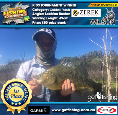 Golden Perch 49cm Lachlan Buxton Wilson & Zerek $50 prize pack