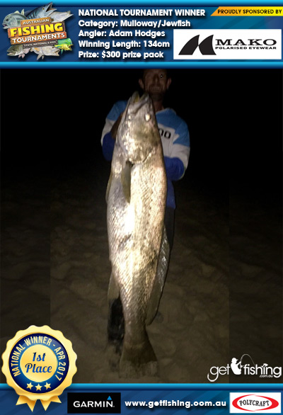 Mulloway/Jewfish 134cm Adam Hodges Mako Eyewear $300 prize pack