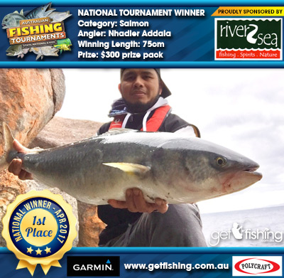Salmon 75cm Nhadier Addala River2Sea $300 prize pack
