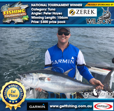 Tuna 104cm Peter Hayes Wilson/Zerek $300 prize pack