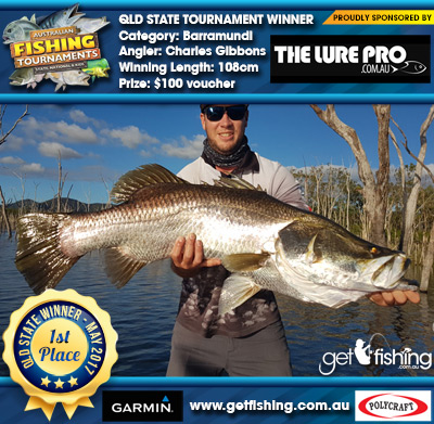 Barramundi 108cm Charles Gibbons The Lure Pro $100 voucher