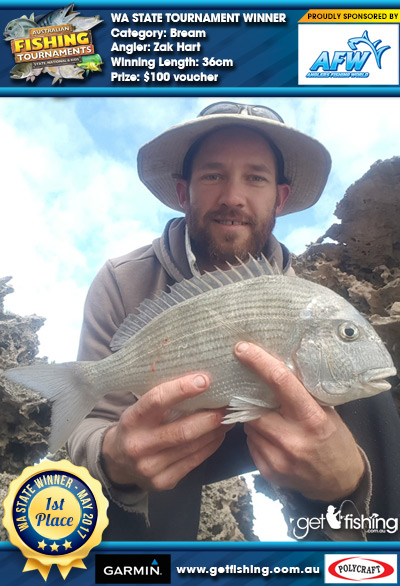 Bream 36cm Zak Hart Anglers Fishing World $100 voucher