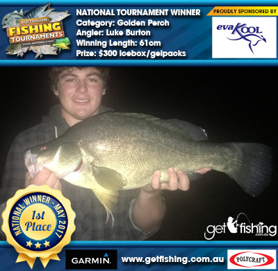 Golden Perch 61cm Luke Burton Evakool/IceMate $300 icebox/gelpacks