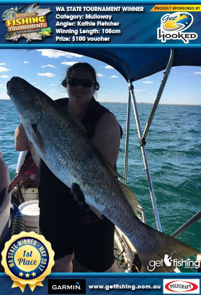 Mulloway 108cm Kathie Fletcher Get Hooked $100 voucher
