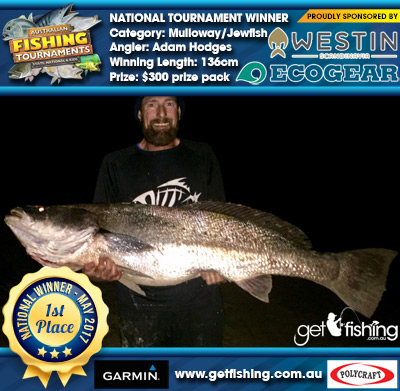 Mulloway/Jewfish 136cm Adam Hodges Ecogear/Westin $300 prize pack