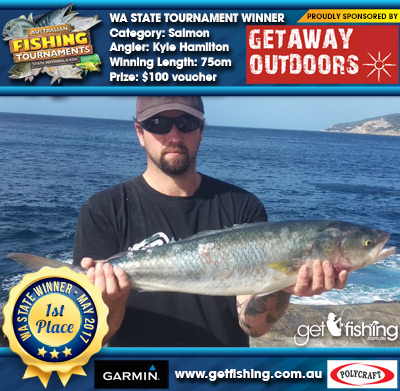 Salmon 75cm Kyle Hamilton Getaway Outdoors $100 voucher
