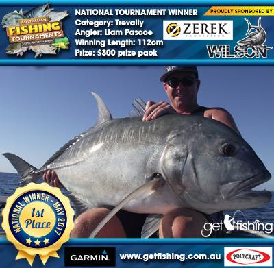 Trevally 112cm Liam Pascoe Wilson/Zerek $300 prize pack