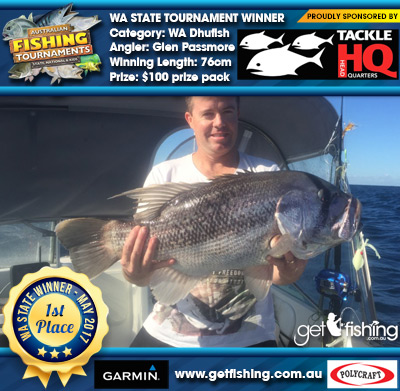 WA Dhufish 76cm Glen Passmore Tackle HQ $100 prize pack