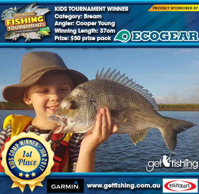 Bream 37cm Cooper Young Ecogear $50 prize pack