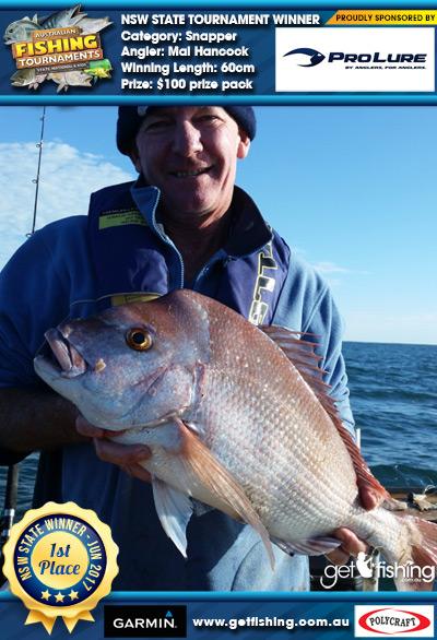 Snapper 60cm Mal Hancock Pro Lure Australia $100 prize pack