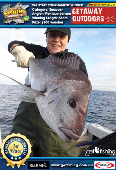 Snapper 68cm Monique Jensen Getaway Outdoors $100 voucher