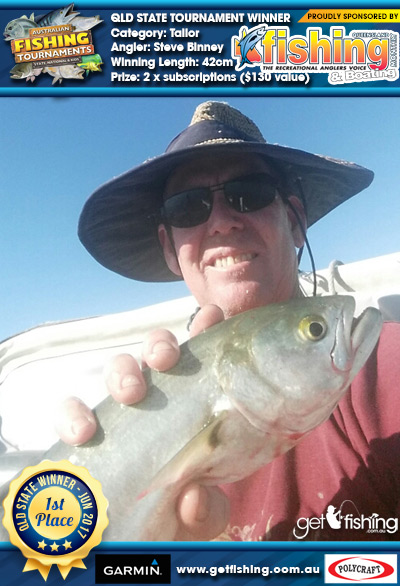 Tailor 42cm Steve Binney Fishing Monthly QLD 2 x subscriptions ($130 value)